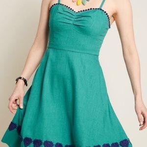 ModCloth Seen Swooning Linen A line dress